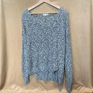 Gray Knit Cozy Sweater